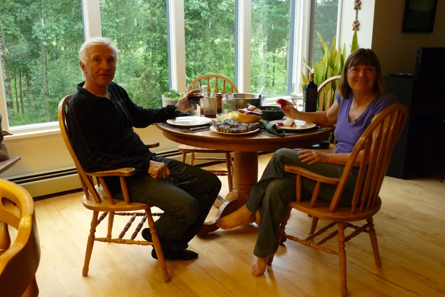 Don and Linda, your hosts, our dinning room, good local food