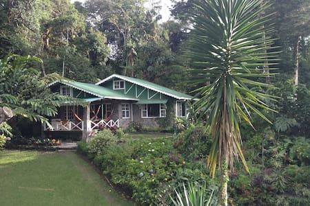 Coffee plantation lake house