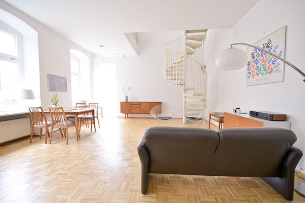 big living space with lots of light