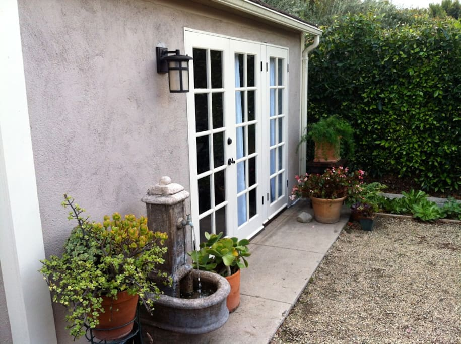 French doors leading to garden