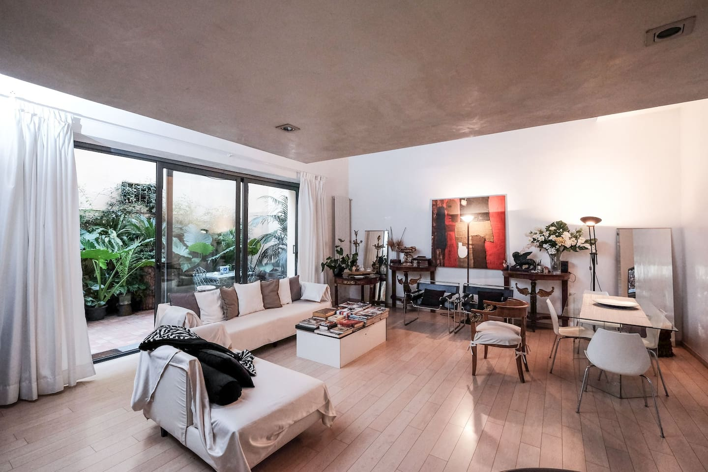 A spacious living room for relaxing and enjoying good company.