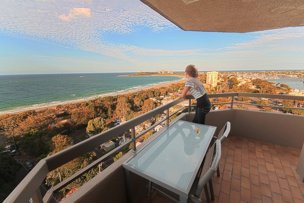 Views to Point Cartright from the balcony make it ideal for Sunrise and Sundown.