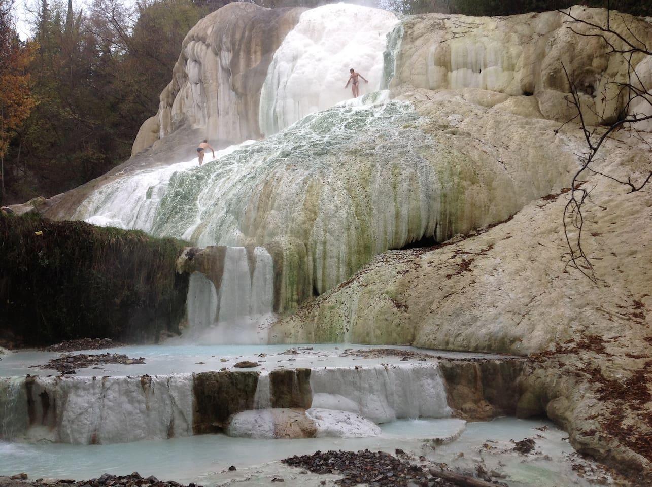 Fosso Bianco a Bagni San Filippo Val d'Orcia