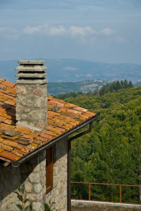 Roof with panorama Orcia Montalcino