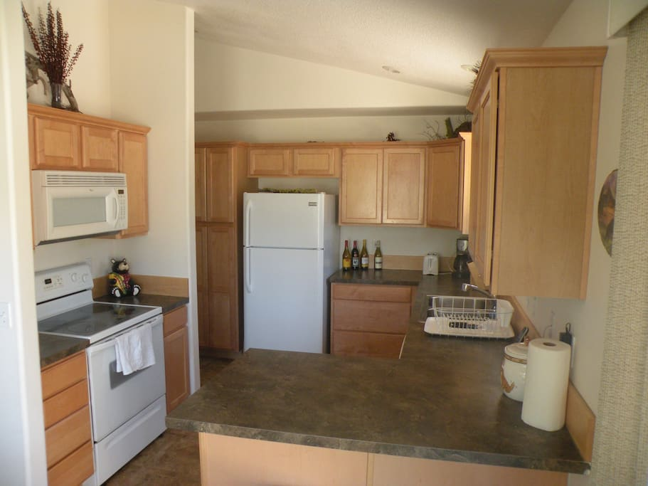 Large kitchen with all amenities.