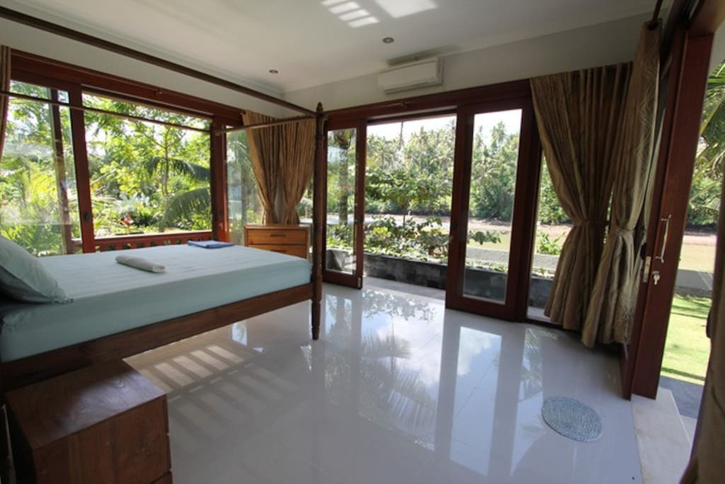 Interior photo of guest house. Excellent view of river. Ocean and mountain views from side windows.