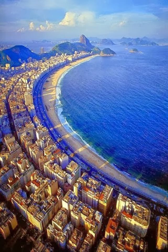 Overview of Copacabana - room is located near bottom of picture on the Ipanema side