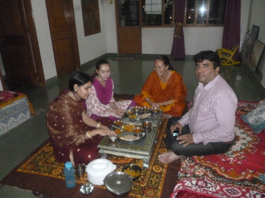 My wife Geeta, me and friends