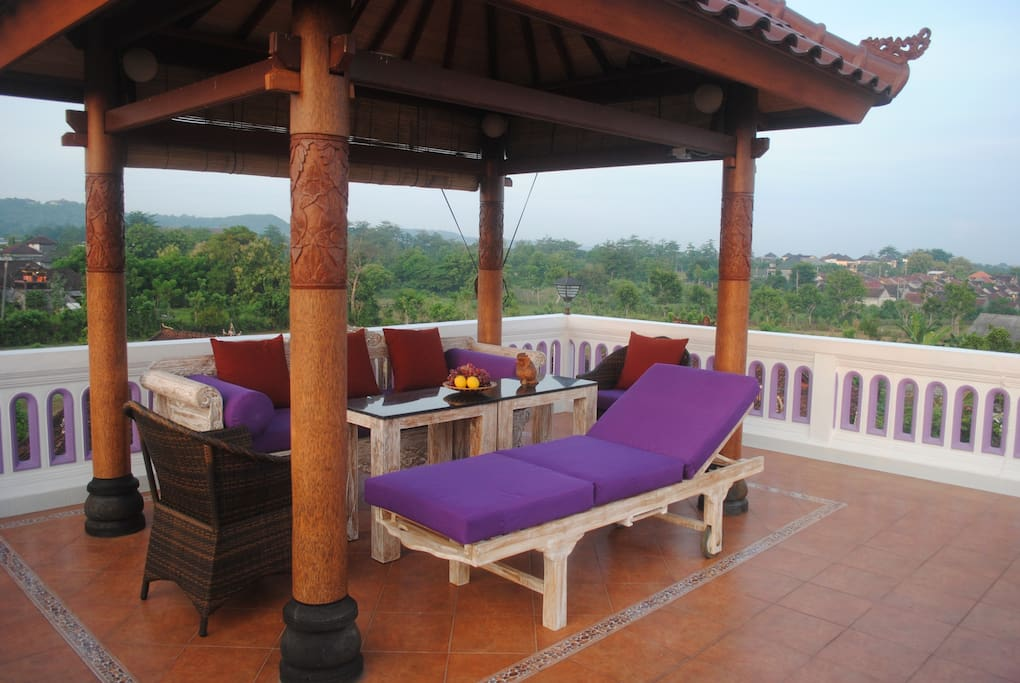 The gazebo on the Rooftop is a great place for watching sunsets and sunrise