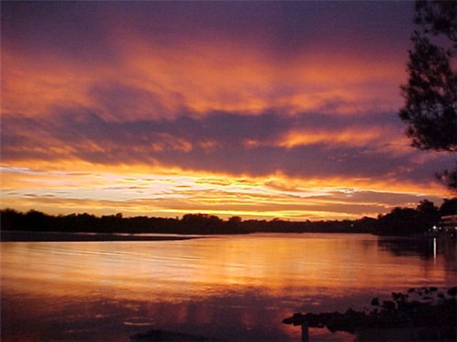 Beautiful sunsets over the Nambucca River
