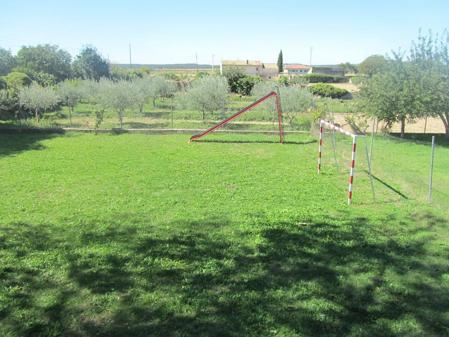 Footlball field and kids park