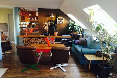 eclectic penthouse in city centre