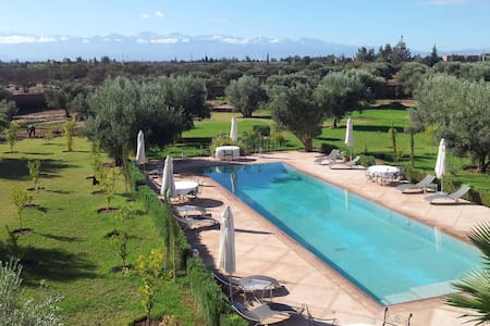 VILLA EN EXCLUSIVITE A 5' GOLFS - Marrakesh - Huis
