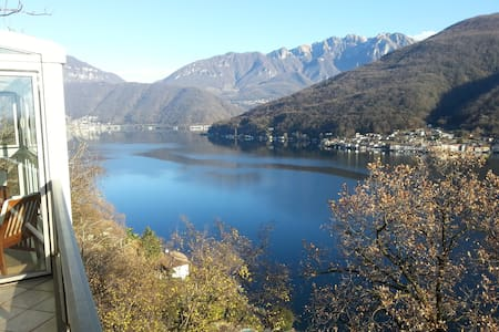 Winter in Morcote (Lugano) - Beautiful Lake View - Morcote