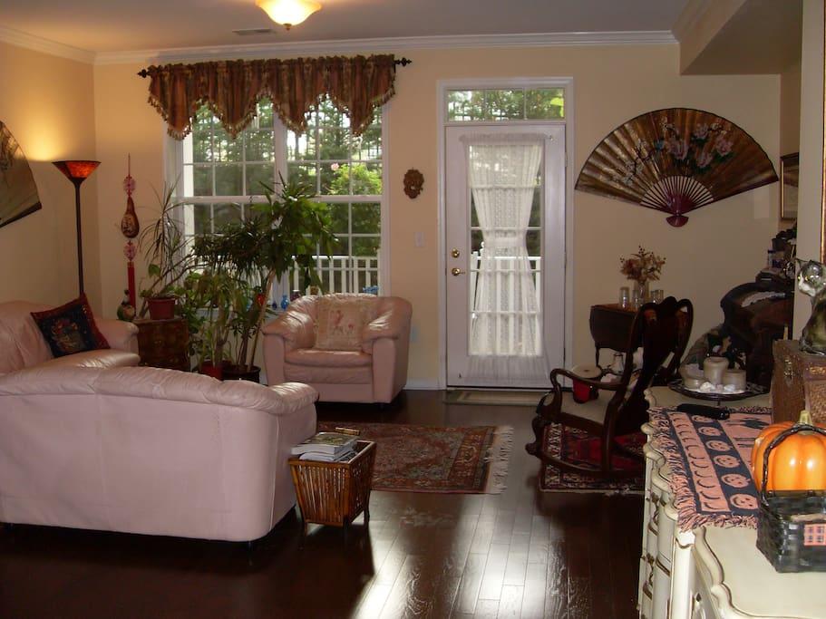 Living Room with door to patio.