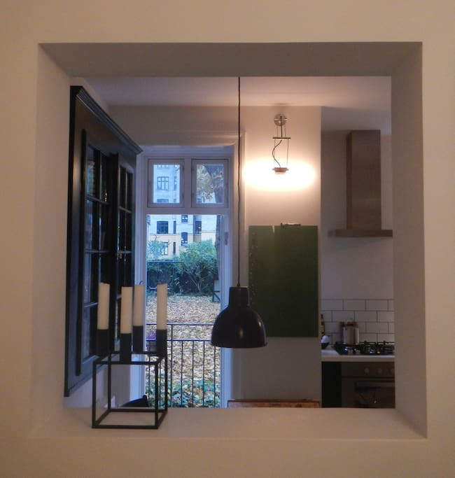 View through kitchen to terrace