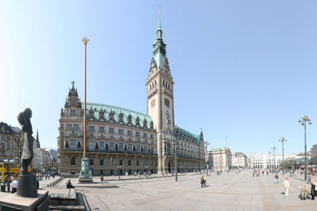 Rathaus in Hamburg - City-Hall in Hamburg