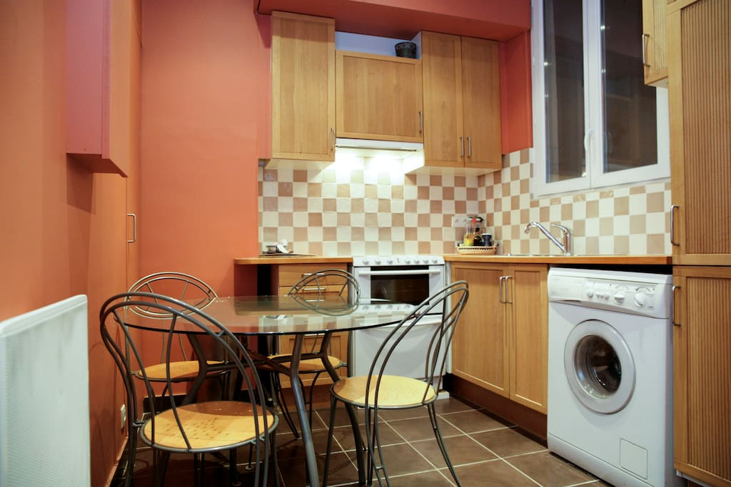 Kitchen seen from the entrance.