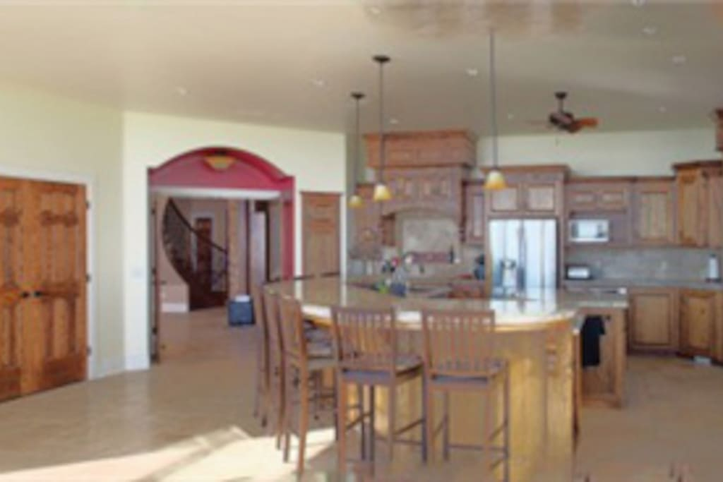 Kitchen - shares a space with the family room