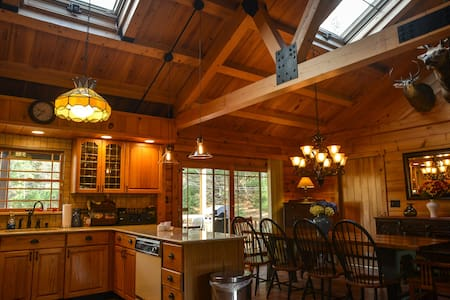 NEW TO MARKET - STUNNING LOG HOME - East Jewett