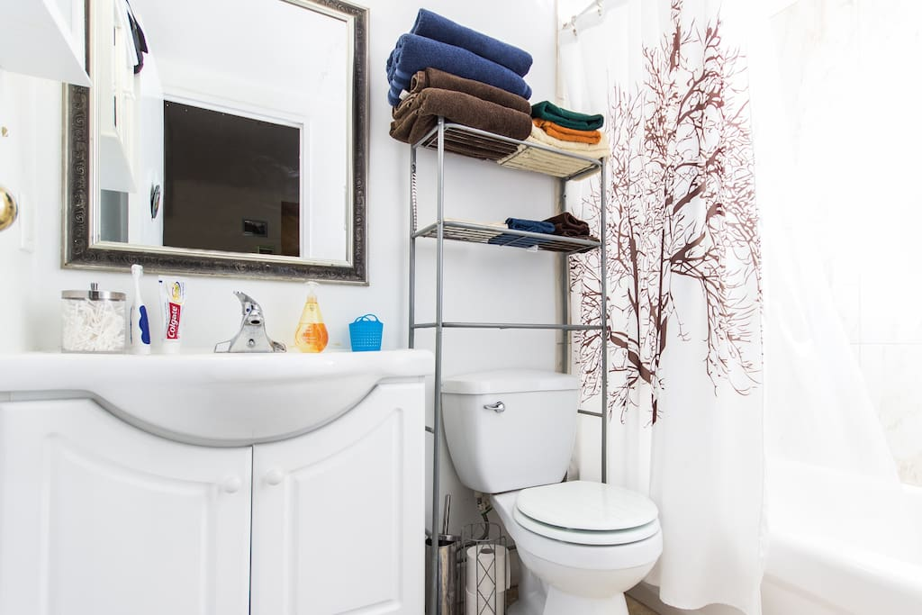 Bright, clean and lots of space for your personal items.