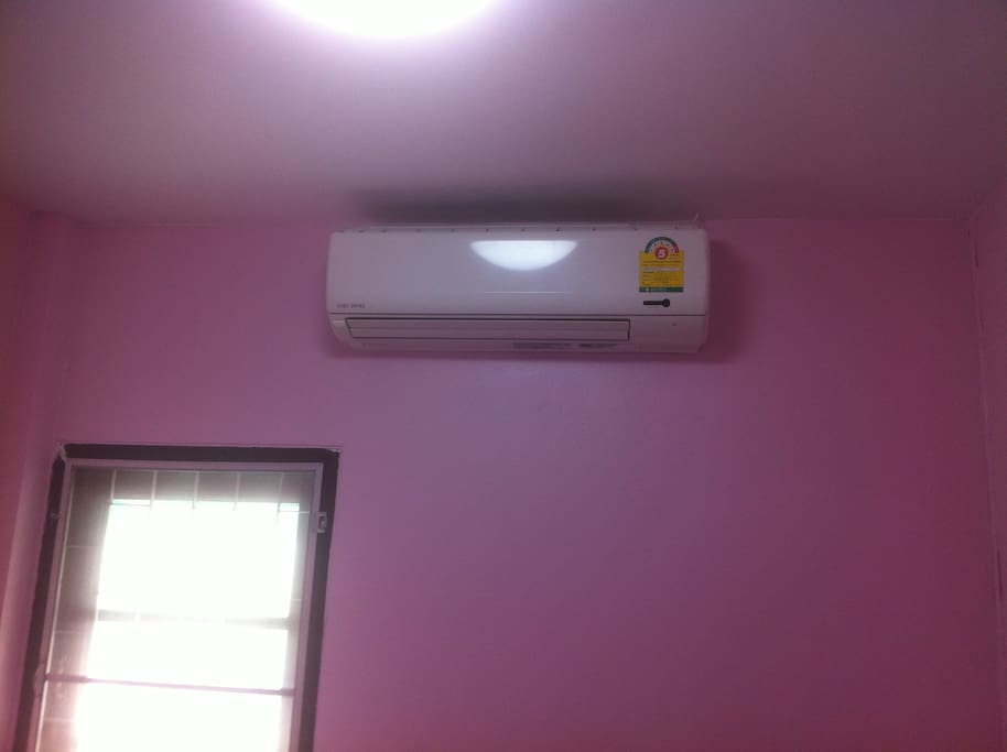 All rooms have an air conditioner.