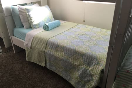Comfortable top bunk/shared room