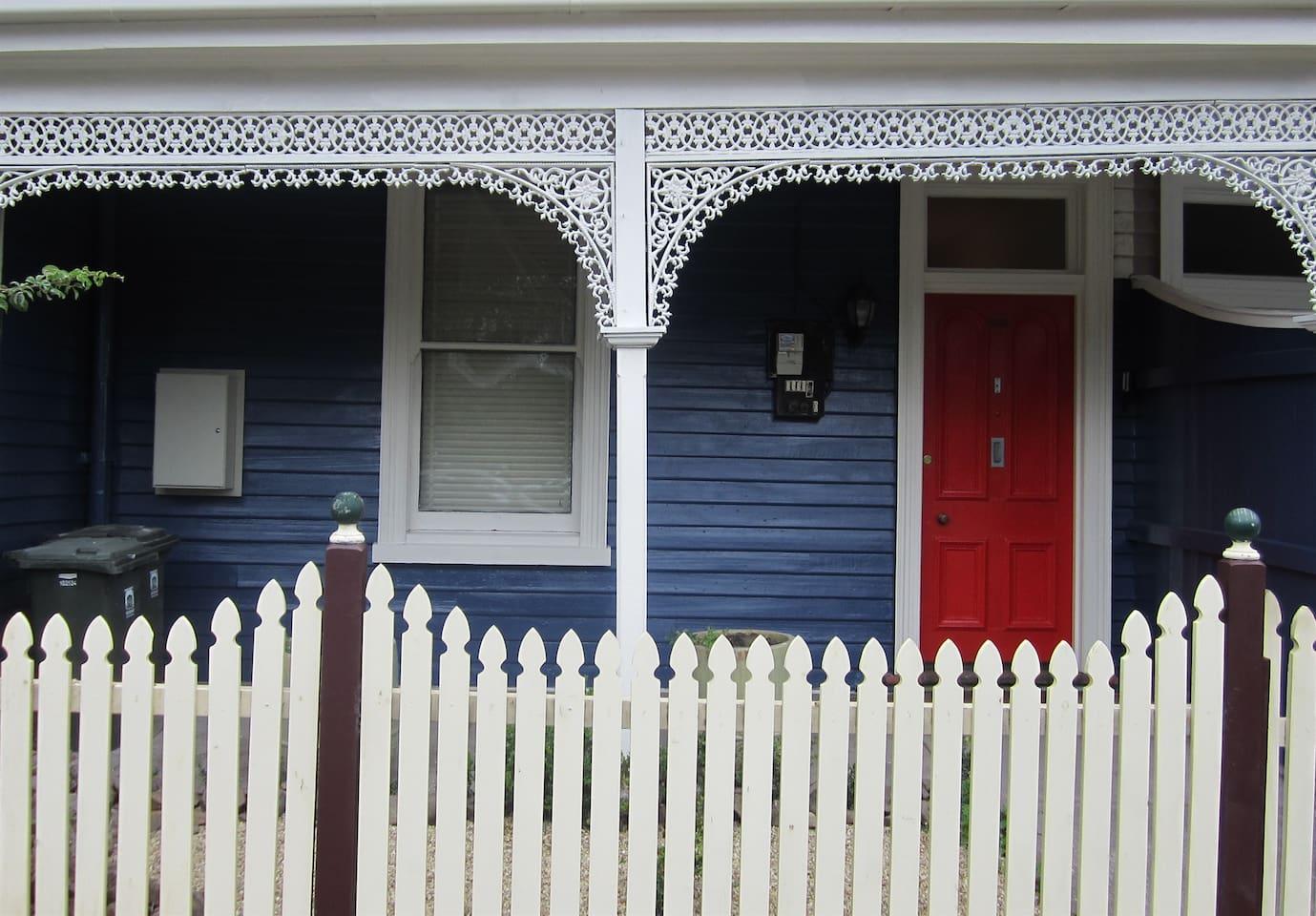Enter through the Red Door.