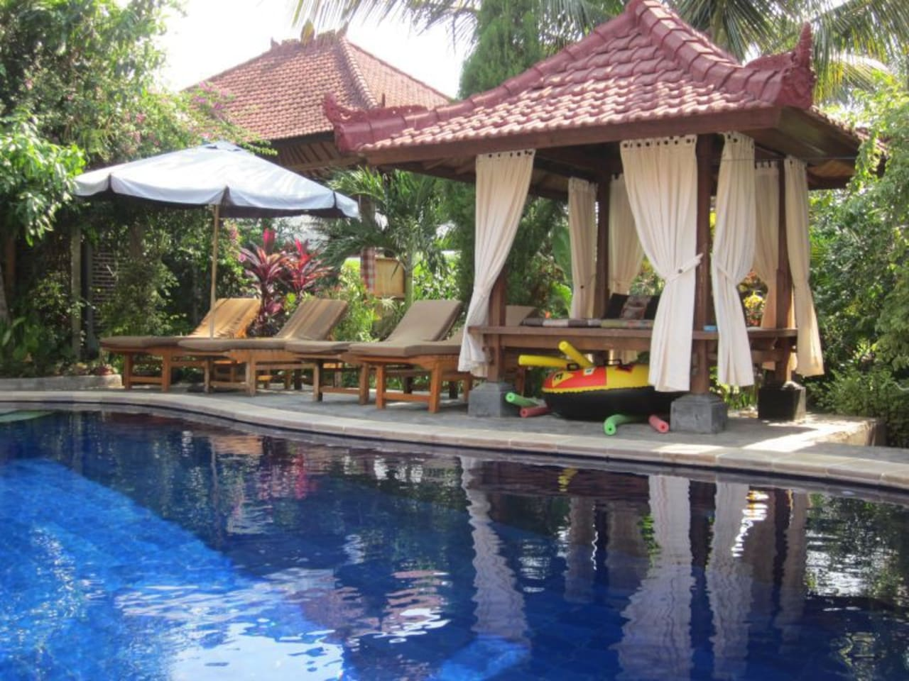 We plenty of places to relax by the pool or even get a massage!