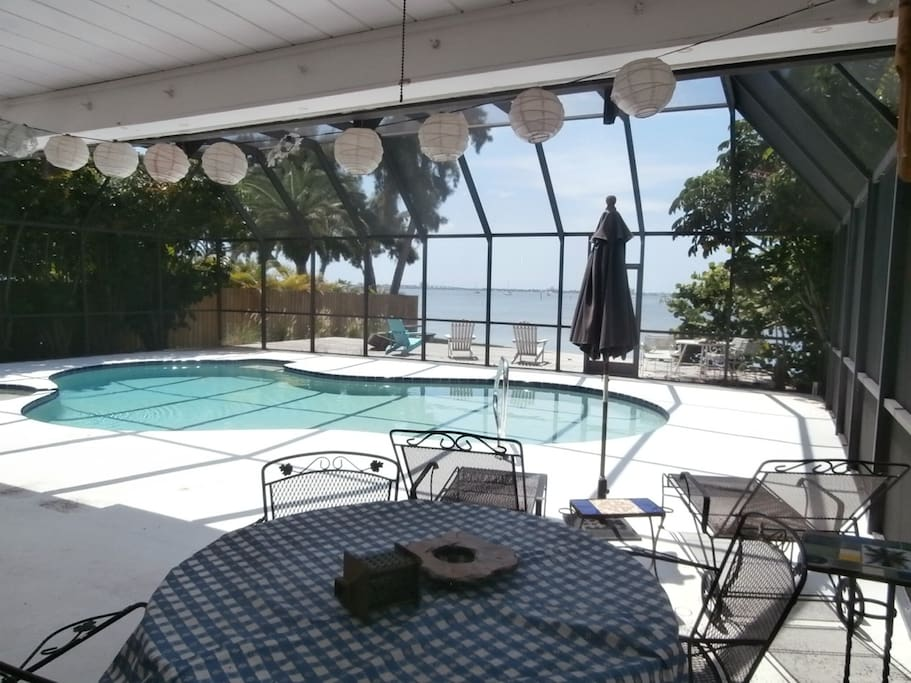 Pool and screened-in patio