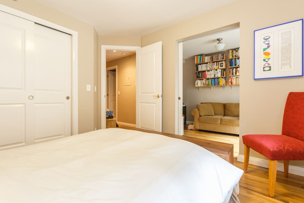 Master bedroom with adjoining private study.