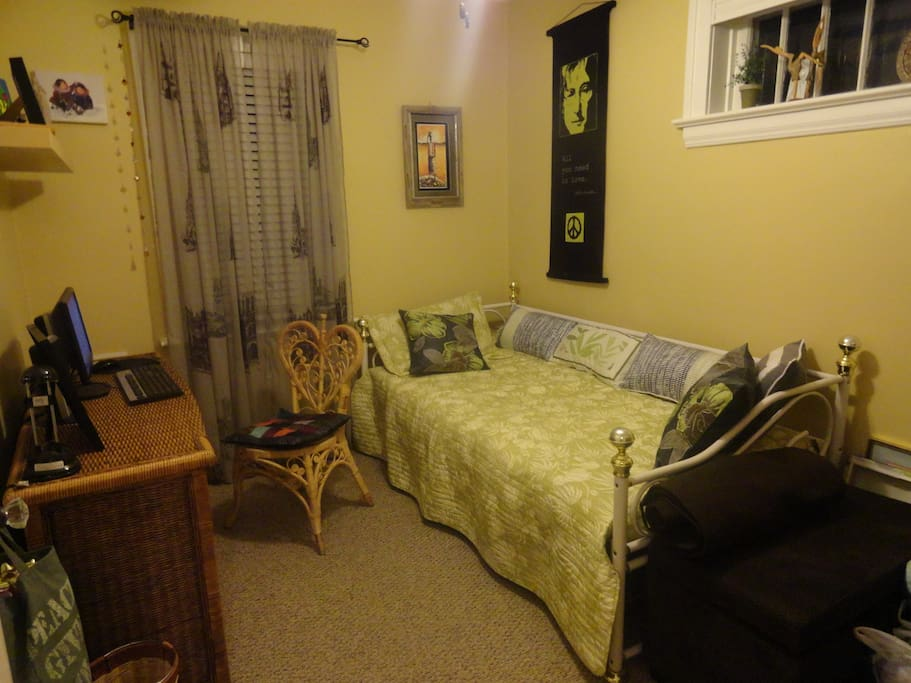 Cozy bedroom with trundle bed - converts into king size bed.