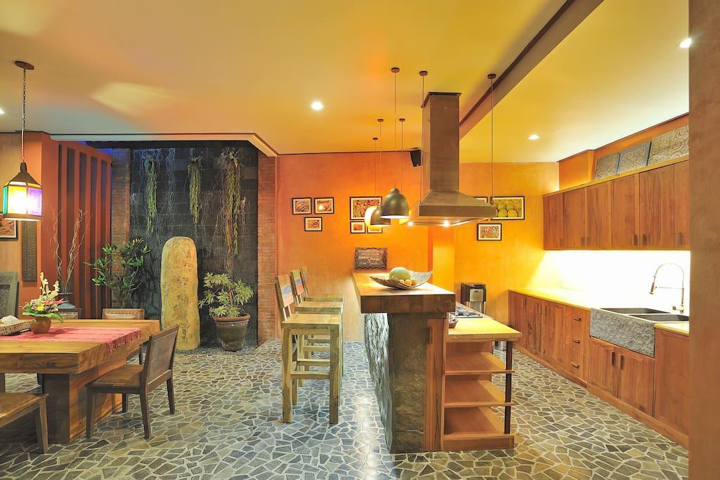 Big kitchen and bar