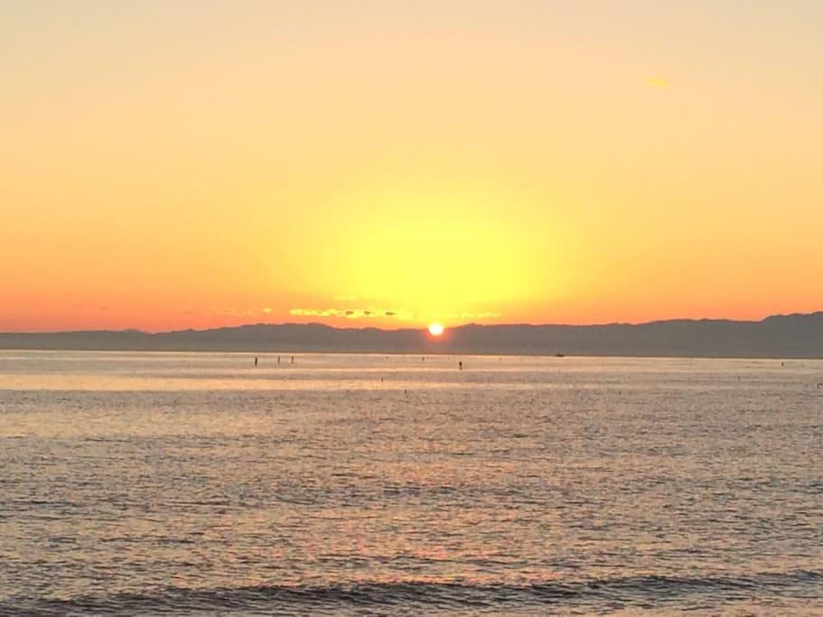 Sunset at Zushi beach
