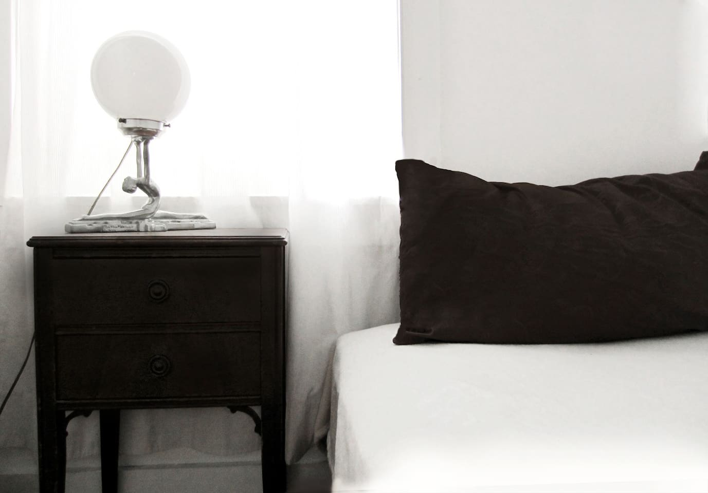 white bedroom; a favorite off all who stay