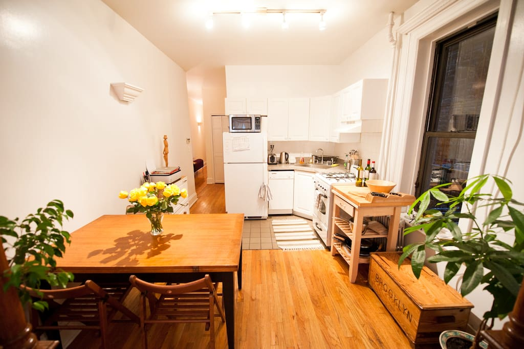 Kitchen with dining table.