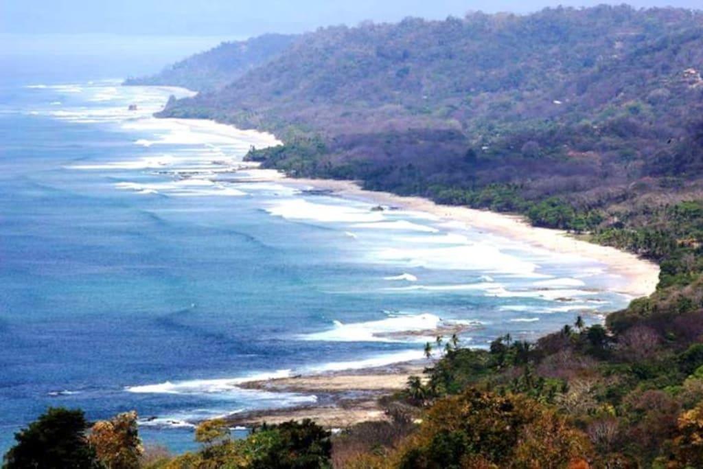 most amazing view over playa carmen, playa santa teresa, playa hermosa, playa manzanillo