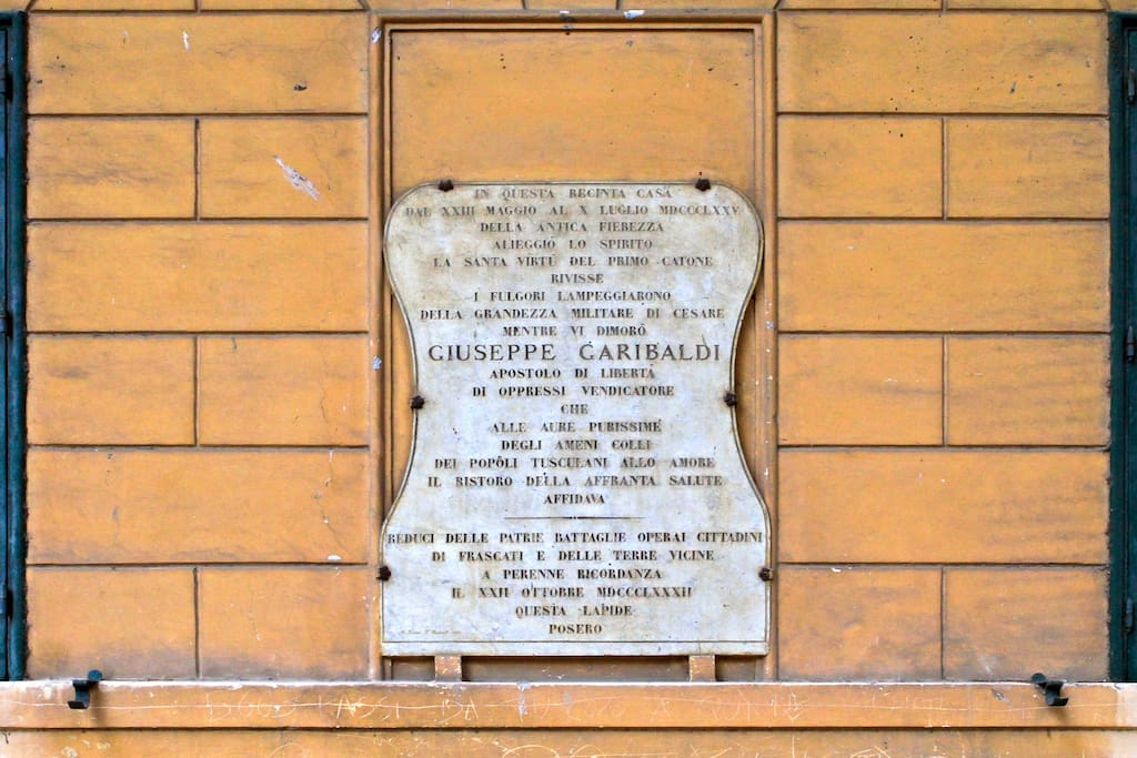giuseppe garibaldi spent some time in this place
