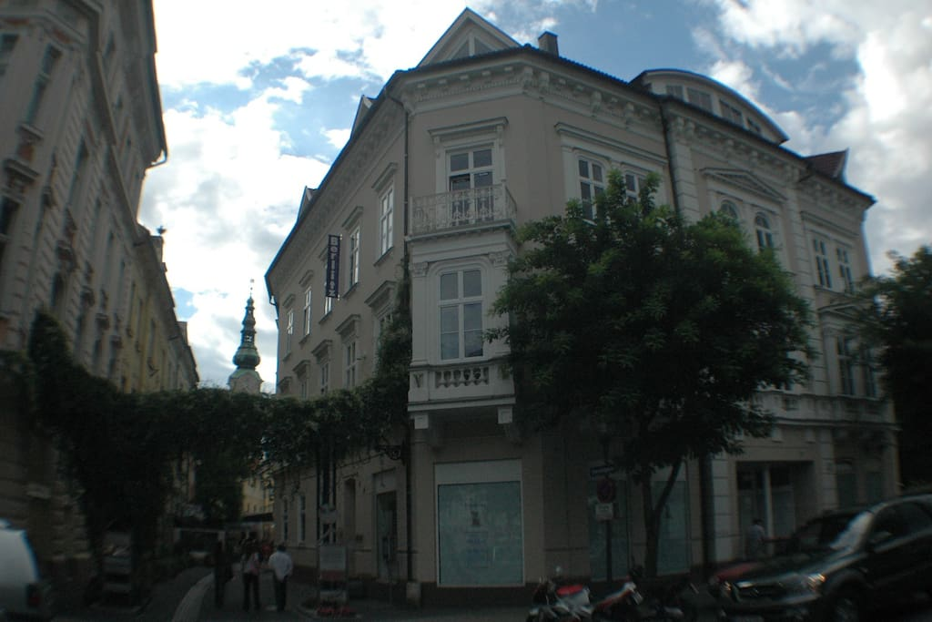 view of the building