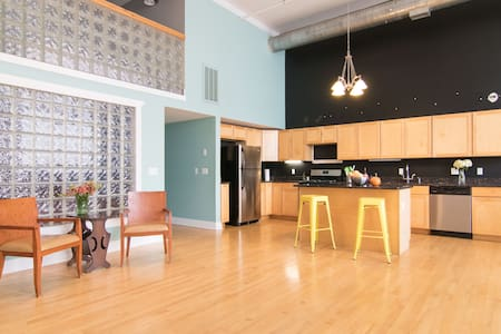 This loft is ideal for group travel - it features a large first floor common space.