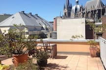 Roof terrace Dome view appartment