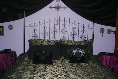 Private Gothic bedroom and bath. - Harvey - House