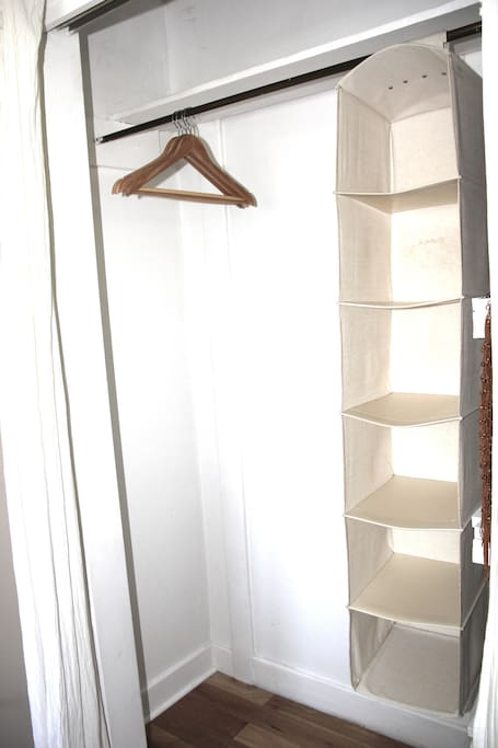 Closets all yours... Bedroom ONE.