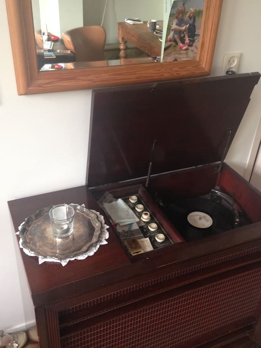 Play our record collection on this vintage record player