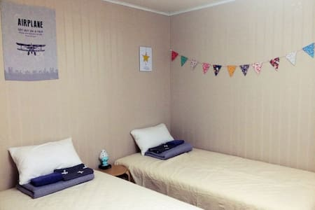 Lonely Planet Twin Bed - 서귀포시 - Apartamento