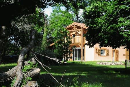 Gîte restauré dans une chesnaie de 4 hectares - Arengosse