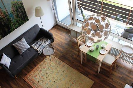 Studio für 2 mit Südbalkon und tollem Bergblick - Berchtesgaden - Apartament