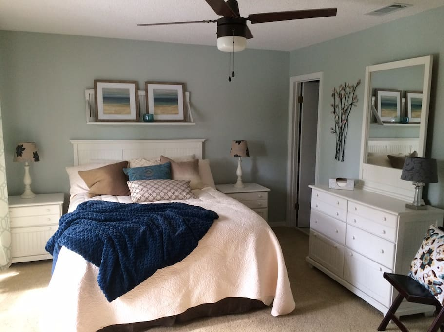 Master bedroom with private balcony and bathroom