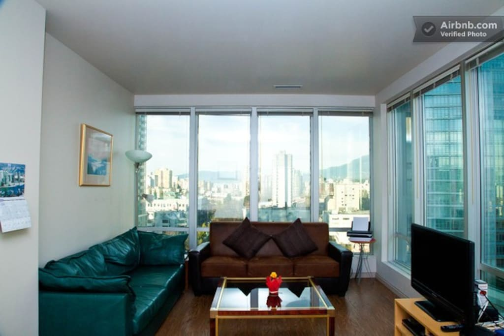 Living Room with West View to English Bay