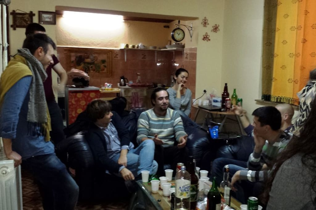 A small party in the 1. floor living room :)